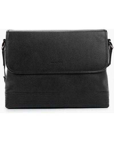 Черная сумка через плечо из натуральной кожи Mascotte