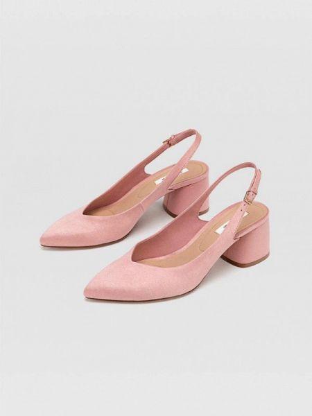 Туфли с открытой пяткой розовый Stradivarius