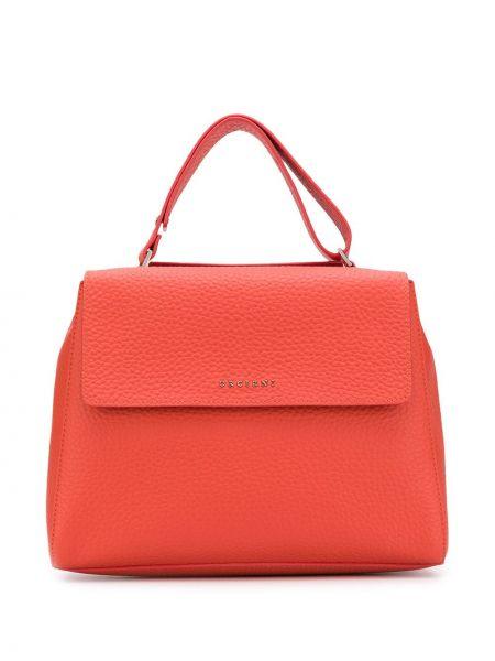 Оранжевая сумка-тоут Orciani