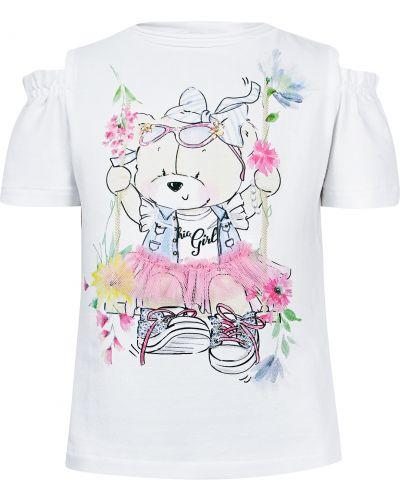 Хлопковая футболка - белая Elsy