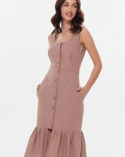 Прямое розовое платье Masha Mart