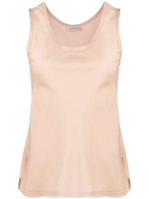 Beżowa bluzka bez rękawów asymetryczna Blanca Vita