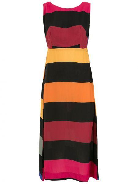 Czarna sukienka z printem Osklen