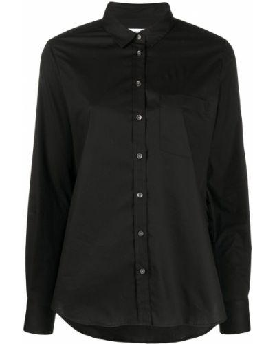 Хлопковая черная классическая рубашка с воротником Closed