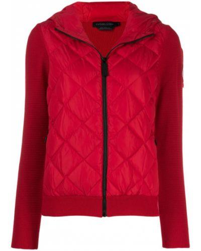 Длинная куртка красная Canada Goose