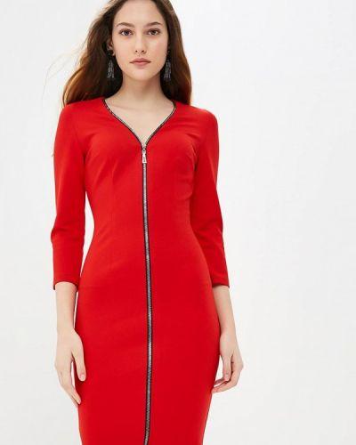 Платье красный осеннее Gorchica