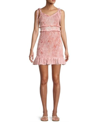 Платье с V-образным вырезом - розовое Bcbgeneration