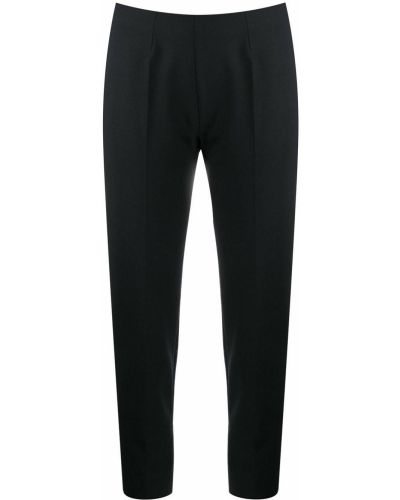 Укороченные брюки брюки-сигареты черные Piazza Sempione