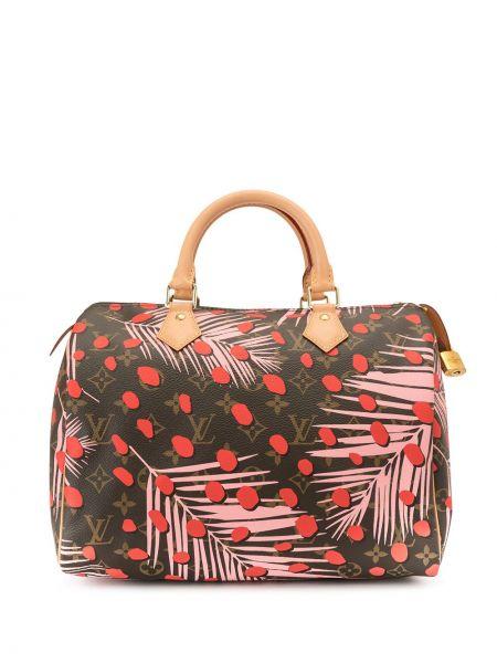 Skórzana torebka na ramię z nadrukiem Louis Vuitton Pre-owned