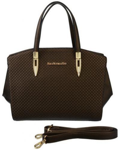 Коричневая кожаный сумка Vera Victoria Vito