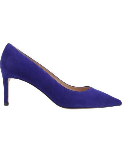 Кожаные туфли с острым носком на каблуке Stuart Weitzman