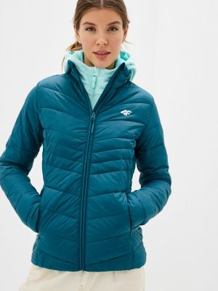 Утепленная куртка весенняя зеленая 4f
