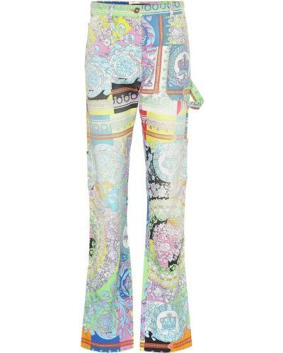 Джинсы с цветочным принтом mom Versace