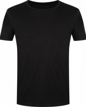 Прямая хлопковая спортивная черная спортивная футболка Gsd
