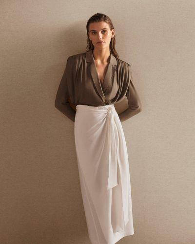 Белая юбка на запах Massimo Dutti