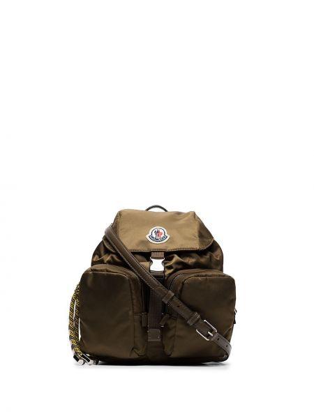 Нейлоновый маленькая сумка хаки Moncler
