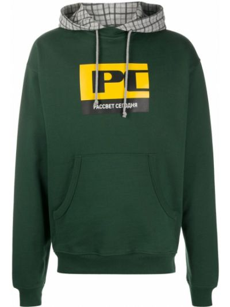 Bluza z nadrukiem z printem - zielona Paccbet