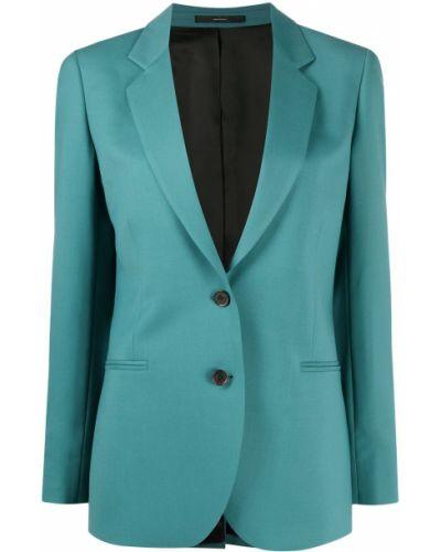 Шерстяной синий пиджак на пуговицах с лацканами Paul Smith