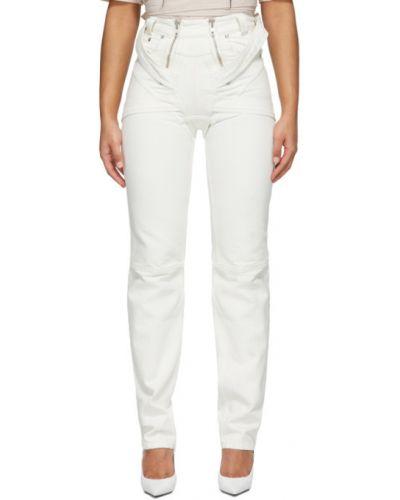 Прямые серебряные прямые джинсы стрейч Gmbh