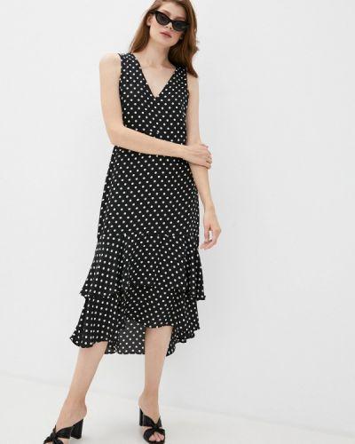 Прямое черное платье Wallis