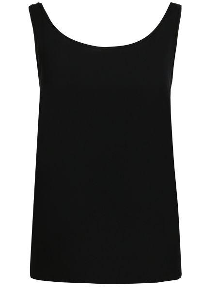 Шелковая футболка - черная Michael Kors