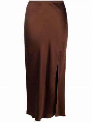Коричневая юбка с разрезом Anine Bing