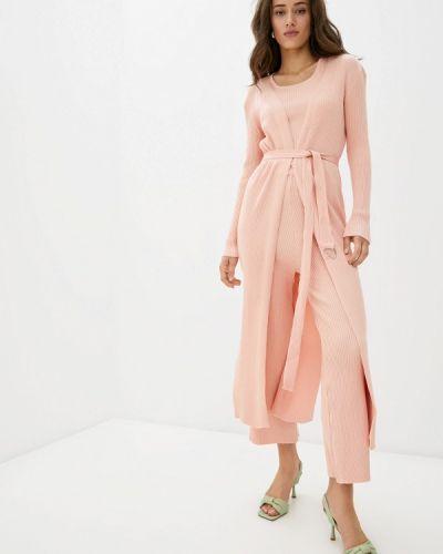 Розовый вязаный костюм Katomi