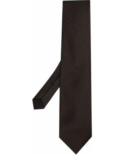 Шелковая коричневая резинка для волос с декоративной отделкой Tom Ford