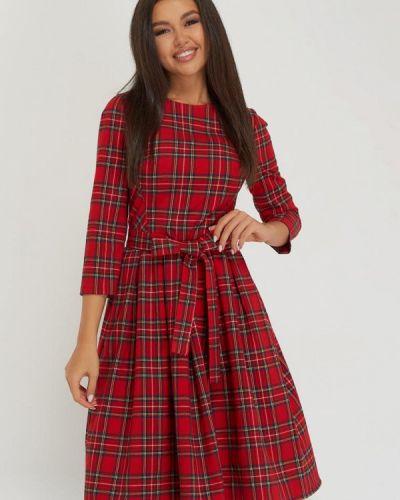 Красное платье осеннее A.karina