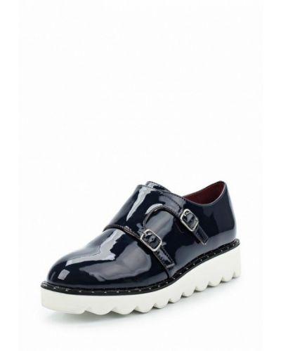 Синие кожаные ботинки Vivian Royal