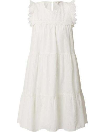 Biała sukienka rozkloszowana koronkowa Edc By Esprit