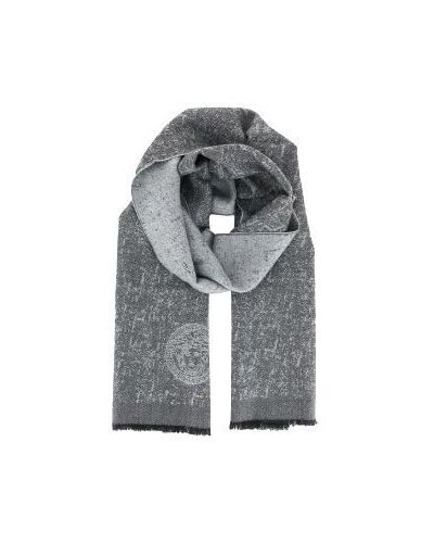 Серый шарф шерстяной Versace