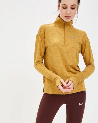 Коричневое поло спортивное Nike