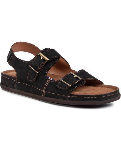 Miękki czarny sandały Go Soft