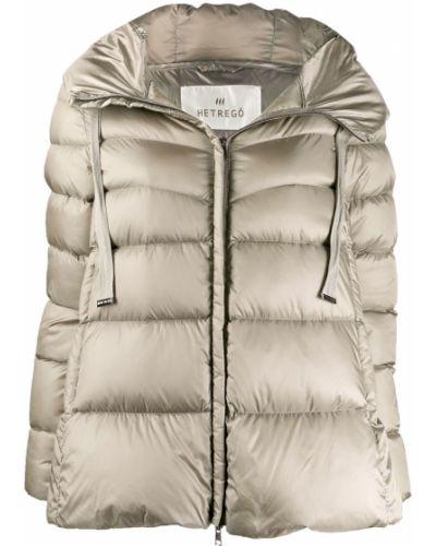 Прямая серебряная длинная куртка Hetrego
