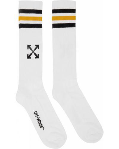 Bawełna bawełna żółty sport skarpety rozciągać Off-white