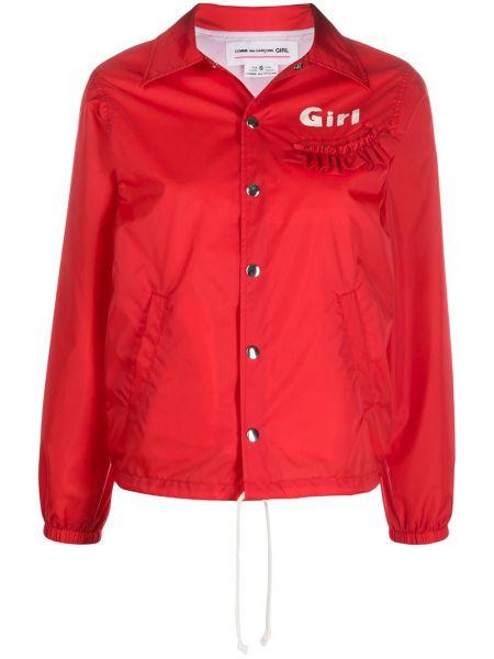 Темно-синяя длинная куртка Comme Des Garçons Girl