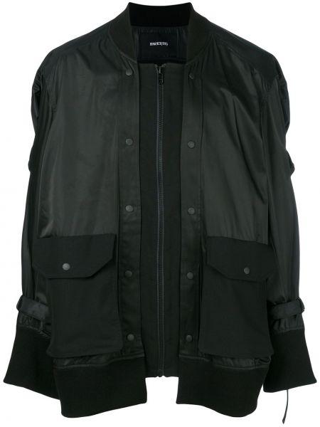 Czarna kurtka wełniana Bmuet(te)