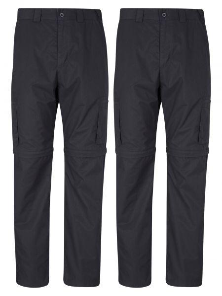 Spodnie - czarne Mountain Warehouse