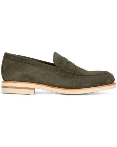 Лоферы замшевые зеленый Berwick Shoes