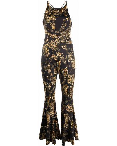 Kombinezon z printem - czarny Versace Jeans Couture