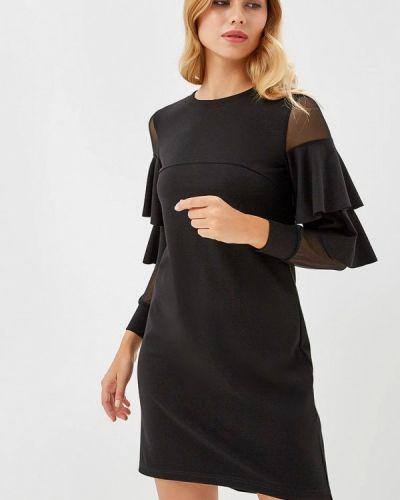 Черное весеннее вечернее платье Raya