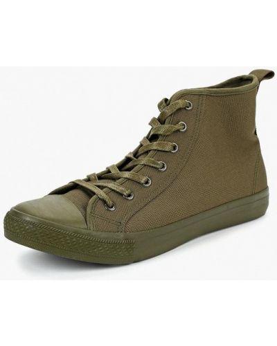 f3f655e02032 Зеленые мужские высокие кеды - купить в интернет-магазине - Shopsy