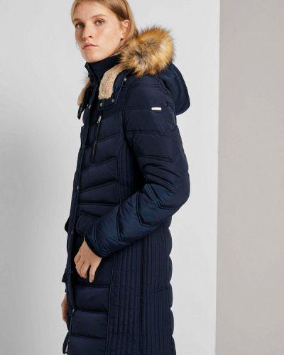 Утепленная куртка - синяя Tom Tailor