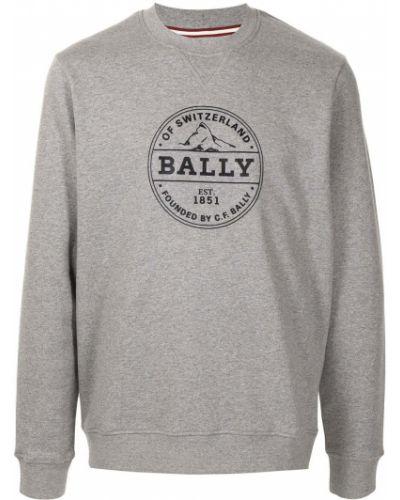 Bluza z długimi rękawami bawełniana z printem Bally
