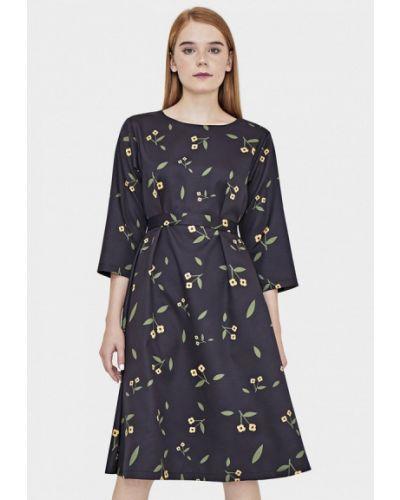 Платье осеннее черное Sultanna Frantsuzova