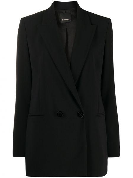 Черный пиджак с воротником двубортный с длинными рукавами Pinko
