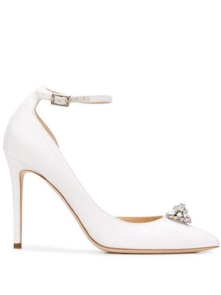 Туфли-лодочки кожаные белый Jimmy Choo