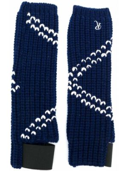 Białe prążkowane rękawiczki wełniane Raf Simons