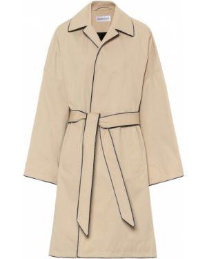 Płaszcz beżowy z paskiem Balenciaga